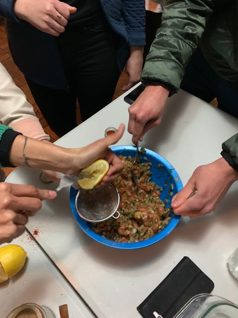 Homemade Chilean salsa has a special family recipe.