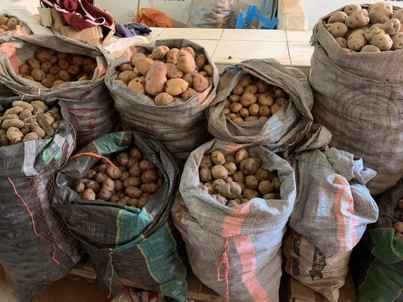 Potatoes at Pisac market