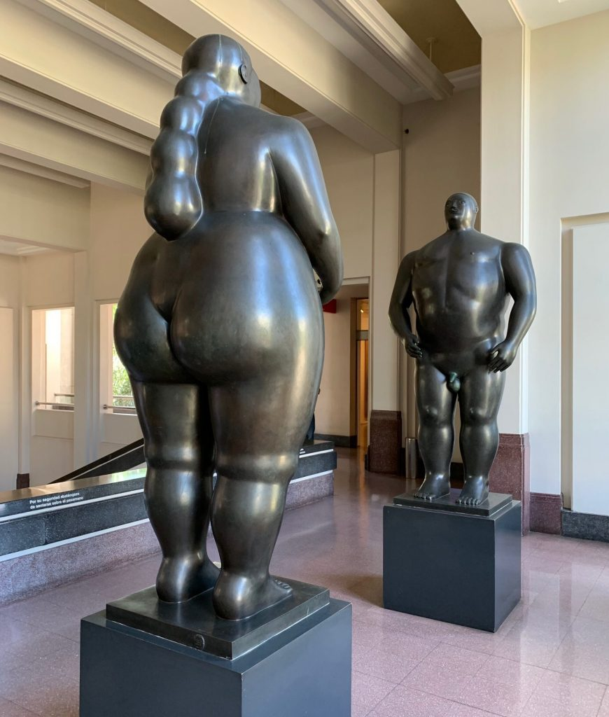Botero sculpture of Adam and Eve, Medellin, Colombia