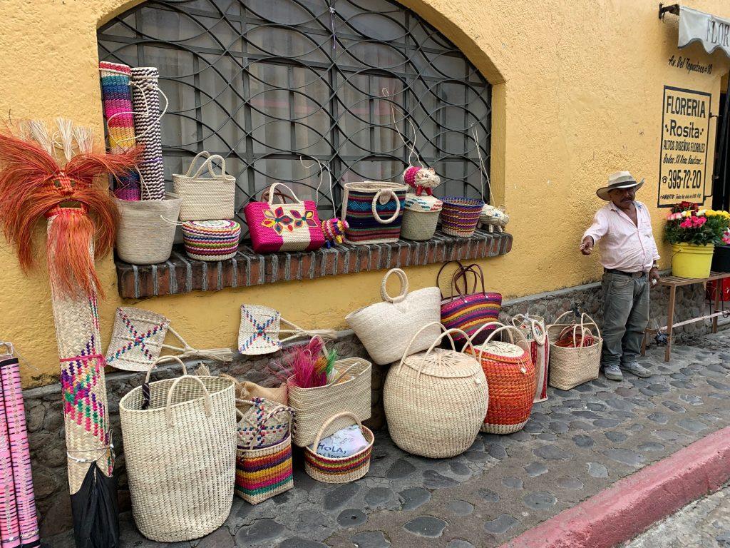 Baskets, Tepoztlan, Mexico ©2019, Cyndie Burkhardt
