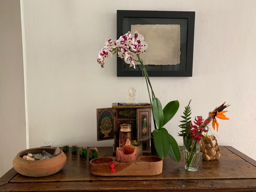 House interior details, on temazcal property, Tepoztlan, Mexico ©2019, Cyndie Burkhardt.