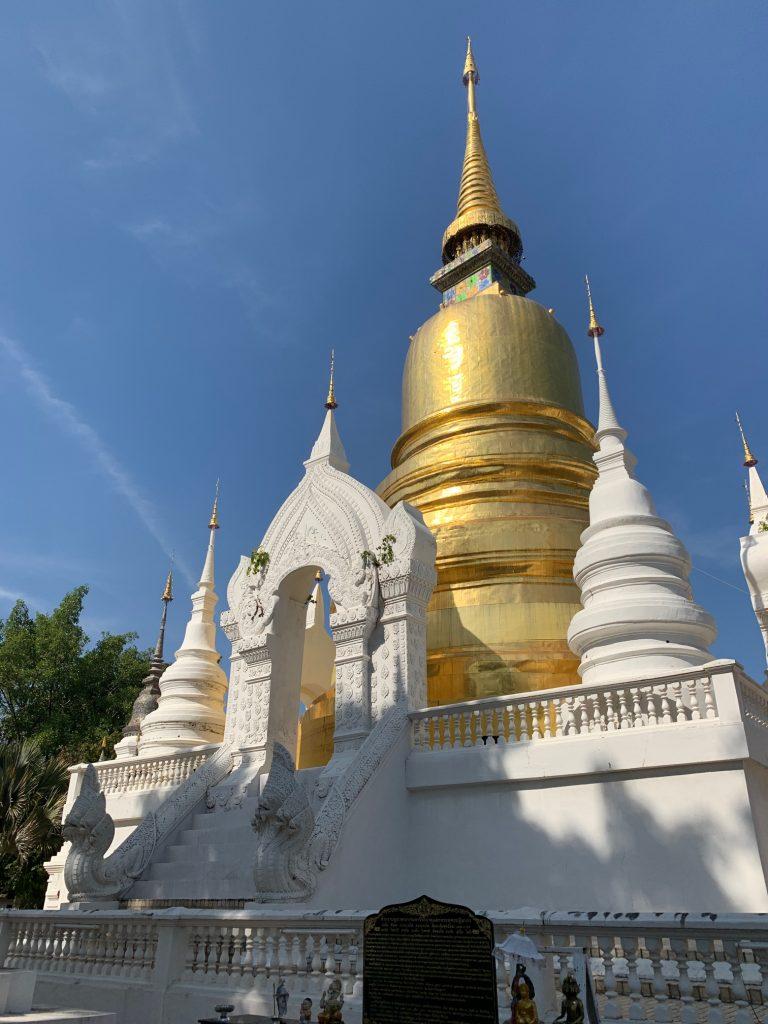 The chedi at Wat Suan Dok, Chiang Mai, Thailand ©2019, Cyndie Burkhardt
