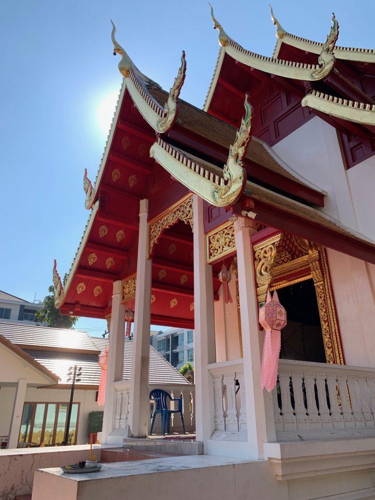 A temple on campus, MCU University, Chiang Mai, ©2019, Cyndie Burkhardt