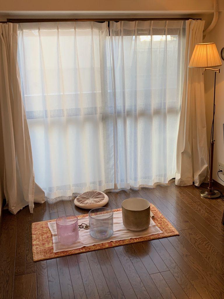 Sound healing, Kyoto, Japan ©2020, Cyndie Burkhardt.