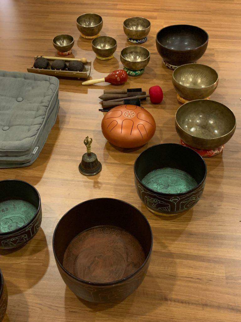 Meditation tools at Future of Wellness, Kuala Lumpur, Malaysia ©2020, Cyndie Burkhardt.