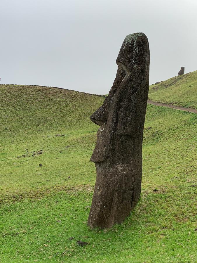 Moai Statue, Easter Island, Chile ©2019, Cyndie Burkhardt.