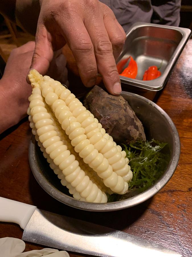 Making Ceviche, Cusco, Peru ©2019, Cyndie Burkhardt.