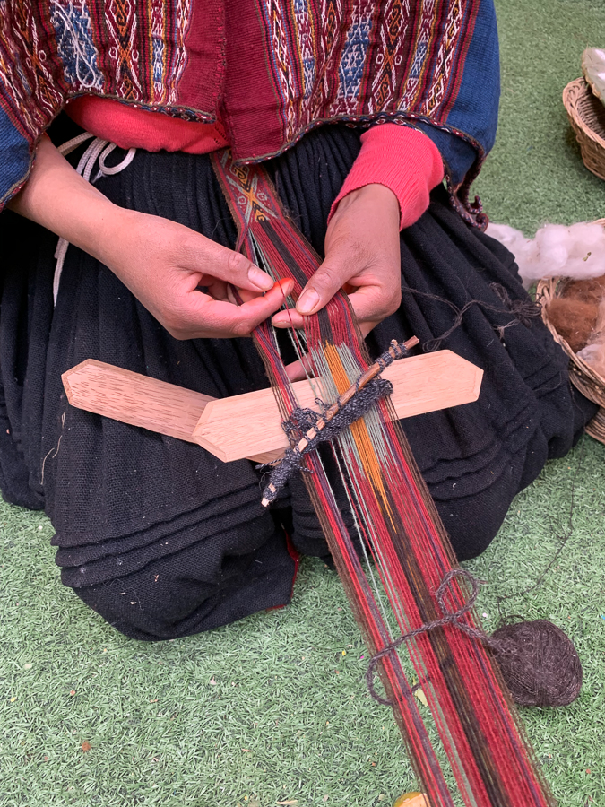 Weaving, Chinchero, Peru ©2019, Cyndie Burkhardt.