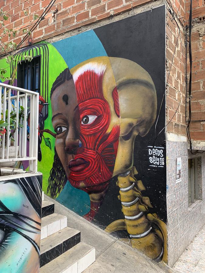 Wall Art, Comuna 13, Medellín, Colombia, ©2019, Cyndie Burkhardt.
