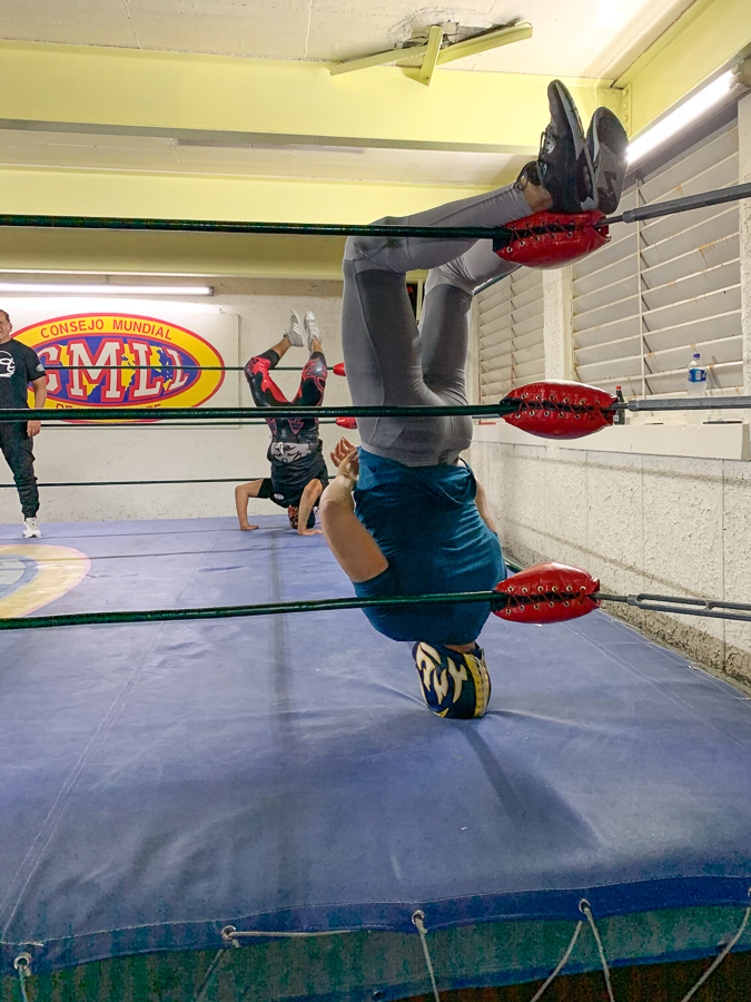 Luchadors training, Mexico City, Mexico ©2019, Cyndie Burkhardt
