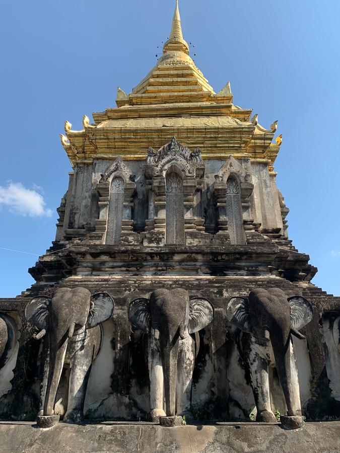 Chedi Chang Lom, Chiang Mai, Thailand ©2019 Cyndie Burkhardt.