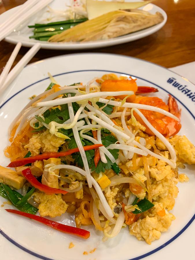 Pad Thai, Thipsamai Restaurant, Bangkok, Thailand ©2019 Cyndie Burkhardt.